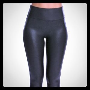NEW AA HIGH RISE MATTE LEATHER LEGGINGS